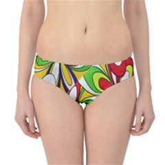 Colorful Textile Background Hipster Bikini Bottoms