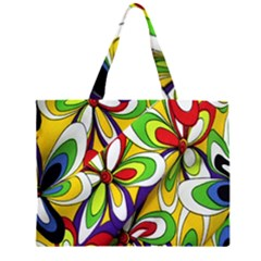 Colorful Textile Background Large Tote Bag