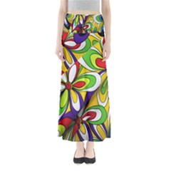 Colorful Textile Background Maxi Skirts