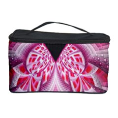 Illuminated Red Hear Red Heart Background With Light Effects Cosmetic Storage Case