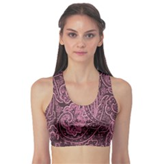 Abstract Purple Background Natural Motive Sports Bra
