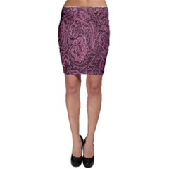 Abstract Purple Background Natural Motive Bodycon Skirt