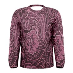 Abstract Purple Background Natural Motive Men s Long Sleeve Tee