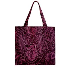 Abstract Purple Background Natural Motive Zipper Grocery Tote Bag