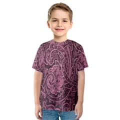 Abstract Purple Background Natural Motive Kids  Sport Mesh Tee