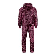 Abstract Purple Background Natural Motive Hooded Jumpsuit (Kids)