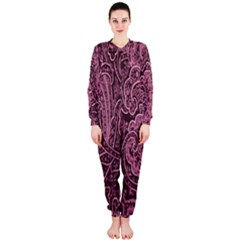 Abstract Purple Background Natural Motive Onepiece Jumpsuit (ladies)