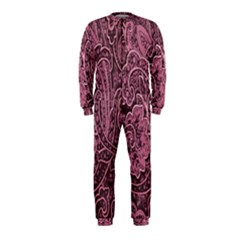 Abstract Purple Background Natural Motive Onepiece Jumpsuit (kids)