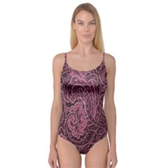 Abstract Purple Background Natural Motive Camisole Leotard
