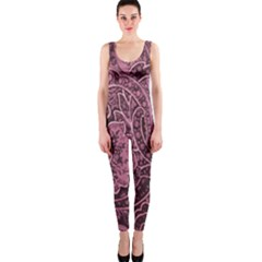 Abstract Purple Background Natural Motive OnePiece Catsuit