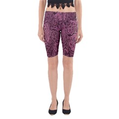 Abstract Purple Background Natural Motive Yoga Cropped Leggings