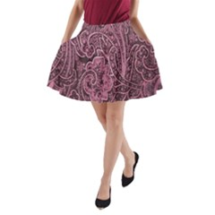 Abstract Purple Background Natural Motive A-Line Pocket Skirt