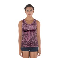 Abstract Purple Background Natural Motive Women s Sport Tank Top