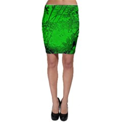 Leaf Outline Abstract Bodycon Skirt