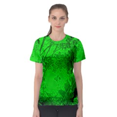 Leaf Outline Abstract Women s Sport Mesh Tee