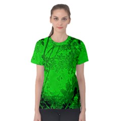 Leaf Outline Abstract Women s Cotton Tee