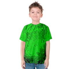 Leaf Outline Abstract Kids  Cotton Tee