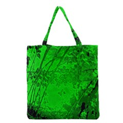 Leaf Outline Abstract Grocery Tote Bag