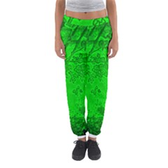 Leaf Outline Abstract Women s Jogger Sweatpants