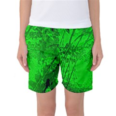 Leaf Outline Abstract Women s Basketball Shorts