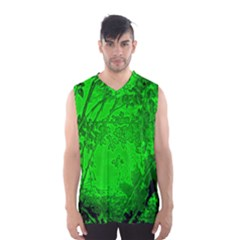 Leaf Outline Abstract Men s Basketball Tank Top
