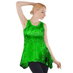 Leaf Outline Abstract Side Drop Tank Tunic