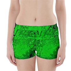 Leaf Outline Abstract Boyleg Bikini Wrap Bottoms