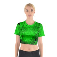 Leaf Outline Abstract Cotton Crop Top