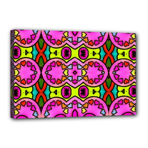 Colourful Abstract Background Design Pattern Canvas 18  X 12