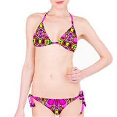 Colourful Abstract Background Design Pattern Bikini Set