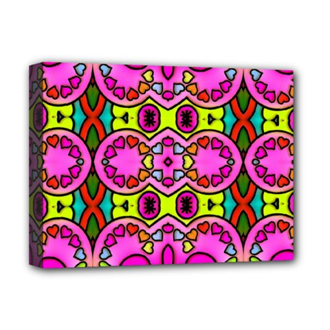 Colourful Abstract Background Design Pattern Deluxe Canvas 16  x 12