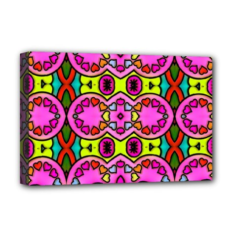 Colourful Abstract Background Design Pattern Deluxe Canvas 18  x 12
