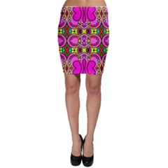 Colourful Abstract Background Design Pattern Bodycon Skirt