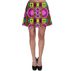 Colourful Abstract Background Design Pattern Skater Skirt