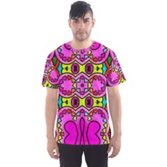 Colourful Abstract Background Design Pattern Men s Sport Mesh Tee