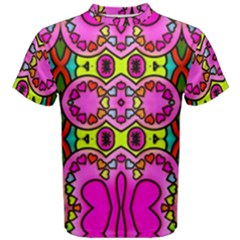 Colourful Abstract Background Design Pattern Men s Cotton Tee