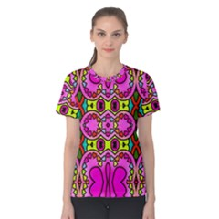 Colourful Abstract Background Design Pattern Women s Cotton Tee