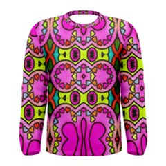 Colourful Abstract Background Design Pattern Men s Long Sleeve Tee