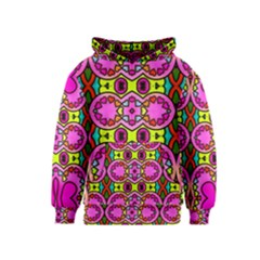 Colourful Abstract Background Design Pattern Kids  Pullover Hoodie