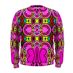 Colourful Abstract Background Design Pattern Men s Sweatshirt