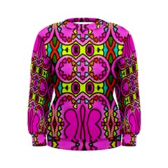 Colourful Abstract Background Design Pattern Women s Sweatshirt