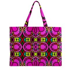 Colourful Abstract Background Design Pattern Zipper Mini Tote Bag