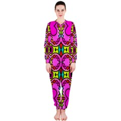 Colourful Abstract Background Design Pattern OnePiece Jumpsuit (Ladies)