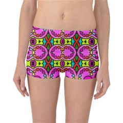 Colourful Abstract Background Design Pattern Boyleg Bikini Bottoms