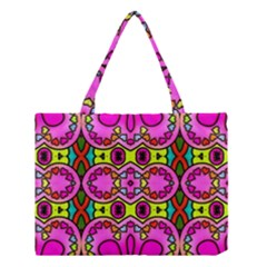 Colourful Abstract Background Design Pattern Medium Tote Bag