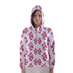 Santa Rita Flowers Pattern Hooded Wind Breaker (Women)