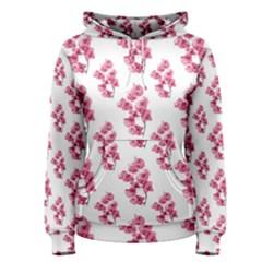 Santa Rita Flowers Pattern Women s Pullover Hoodie