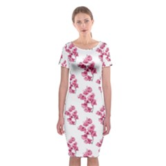 Santa Rita Flowers Pattern Classic Short Sleeve Midi Dress
