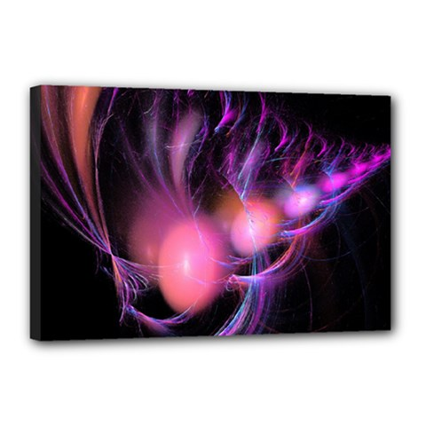 Fractal Image Of Pink Balls Whooshing Into The Distance Canvas 18  x 12