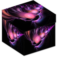 Fractal Image Of Pink Balls Whooshing Into The Distance Storage Stool 12